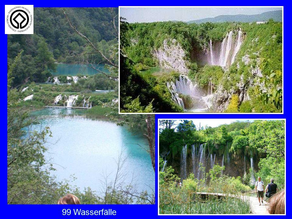 Plitwitzer Seen Die Wasserfälle der Plitwitzer Seen. 99 Wasserfälle