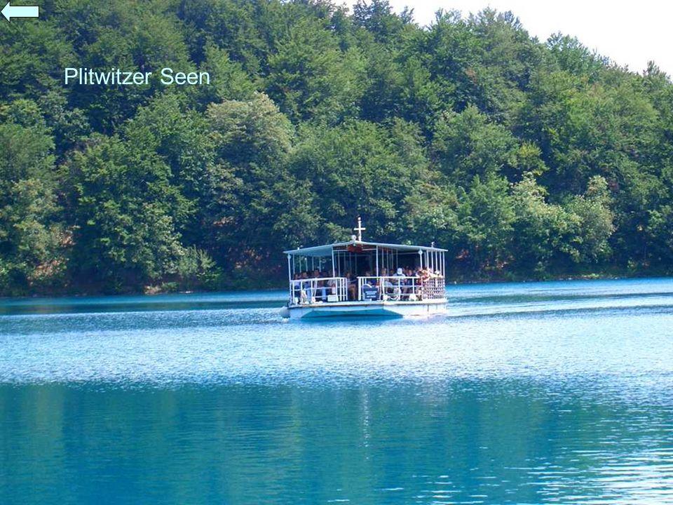 Plitwitzer Seen Die Fahrt mit dem Boot ist im Eintrittspreis enthalten.