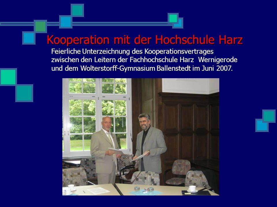 Kooperation mit der Hochschule Harz