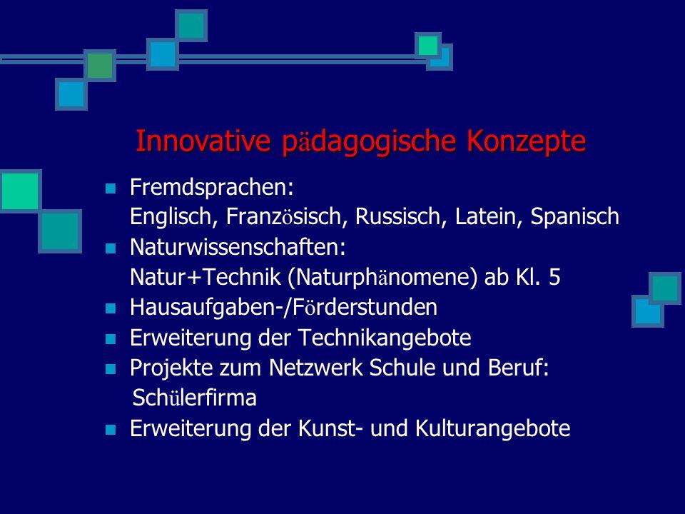 Innovative pädagogische Konzepte