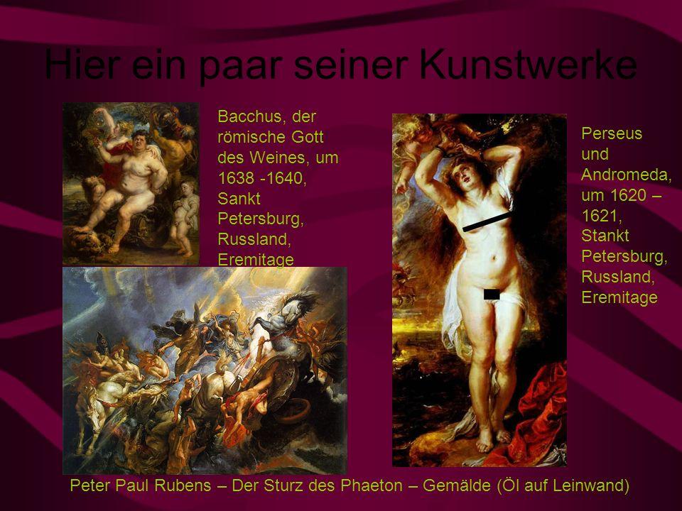 Hier ein paar seiner Kunstwerke