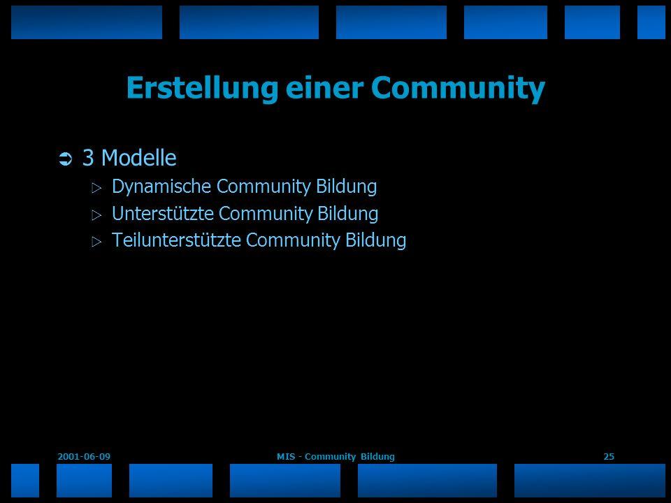 Erstellung einer Community