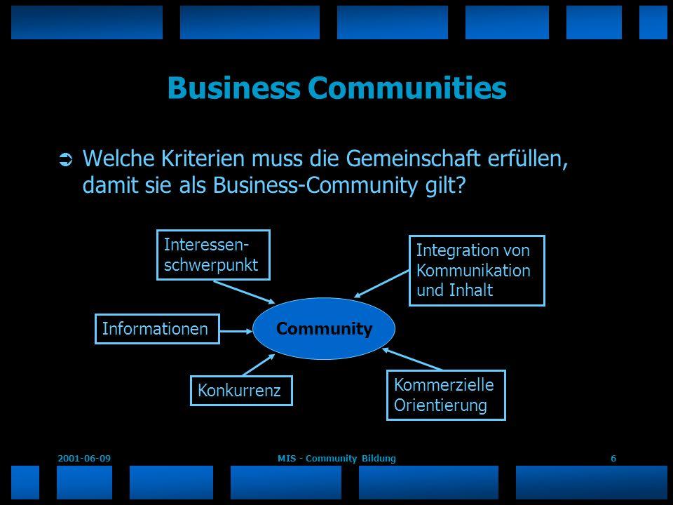 MIS - Community Bildung