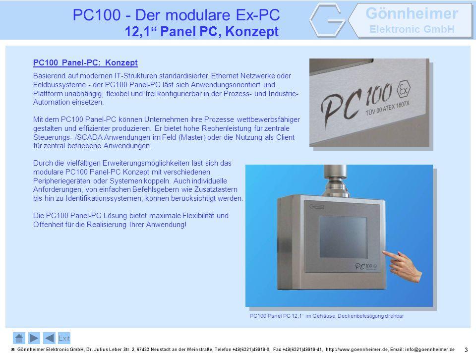 PC100 - Der modulare Ex-PC 12,1 Panel PC, Konzept