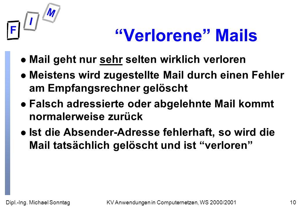 Verlorene Mails Mail geht nur sehr selten wirklich verloren