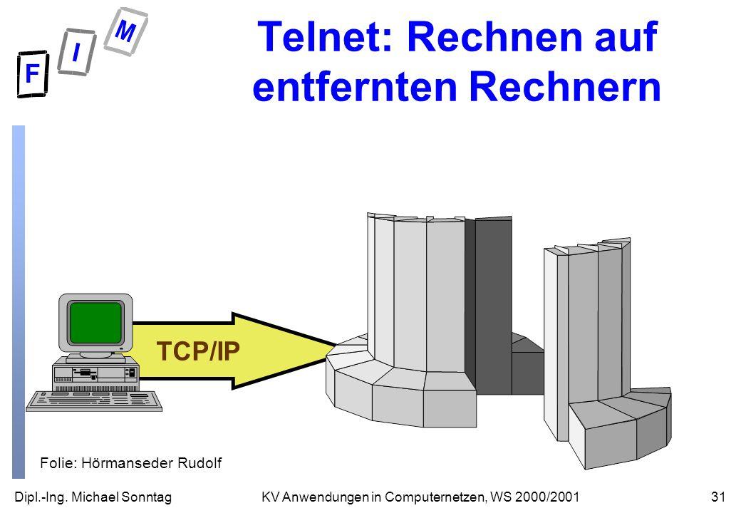 Telnet: Rechnen auf entfernten Rechnern