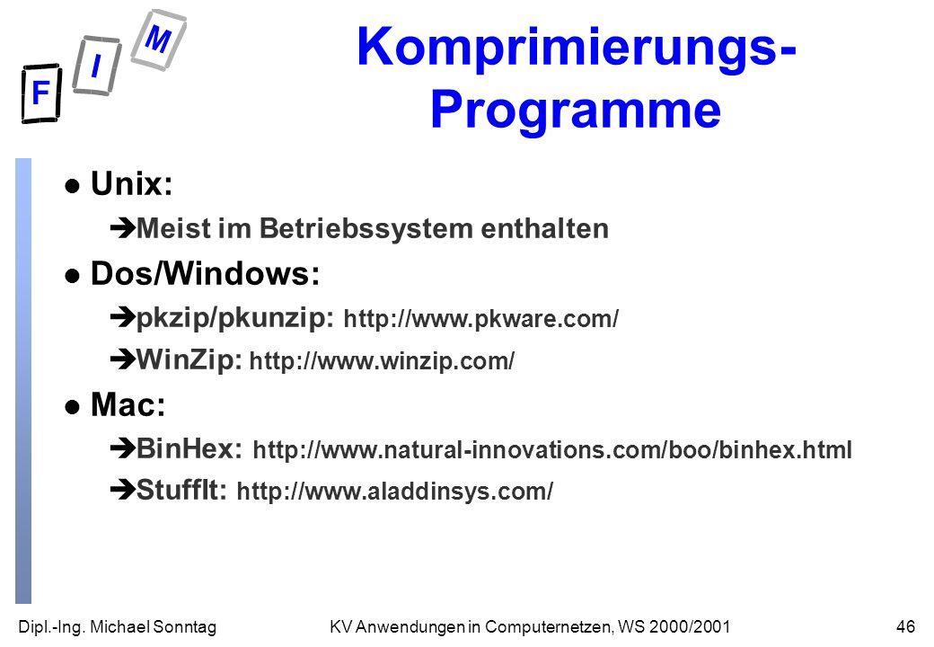 Komprimierungs-Programme