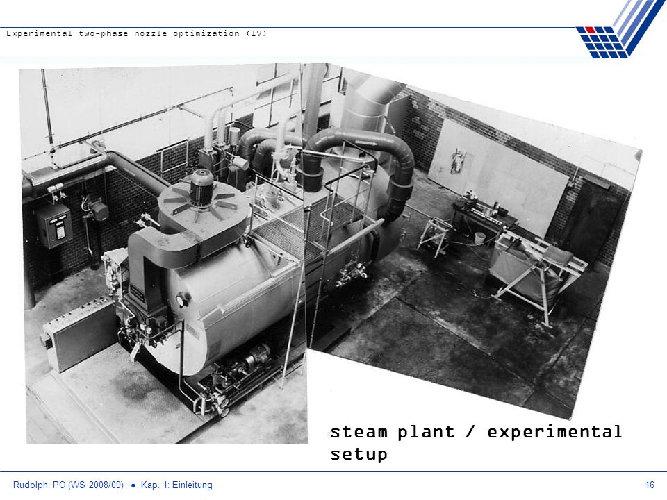 steam plant / experimental setup