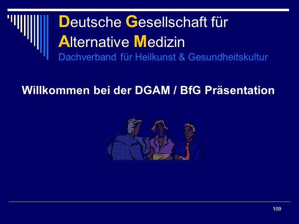Willkommen bei der DGAM / BfG Präsentation