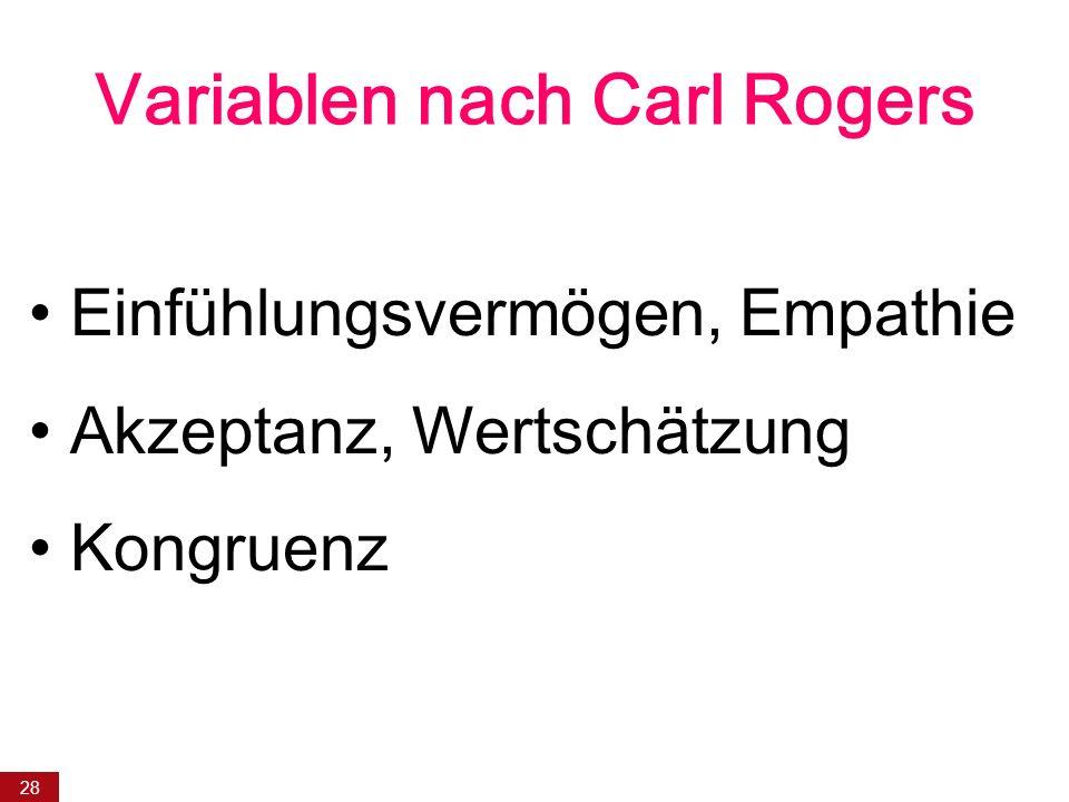 Variablen nach Carl Rogers