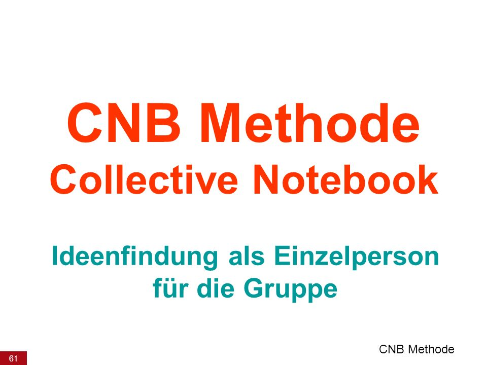 CNB Methode Collective Notebook