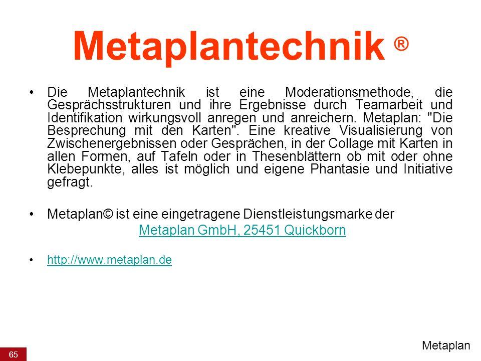 Metaplan GmbH, 25451 Quickborn
