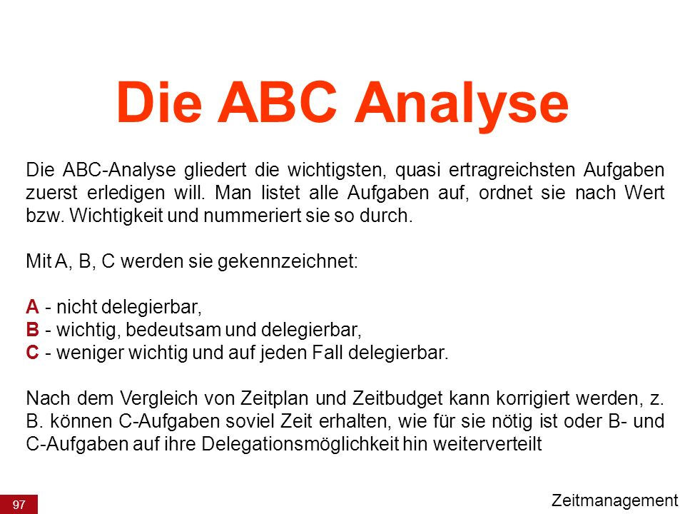 Die ABC Analyse
