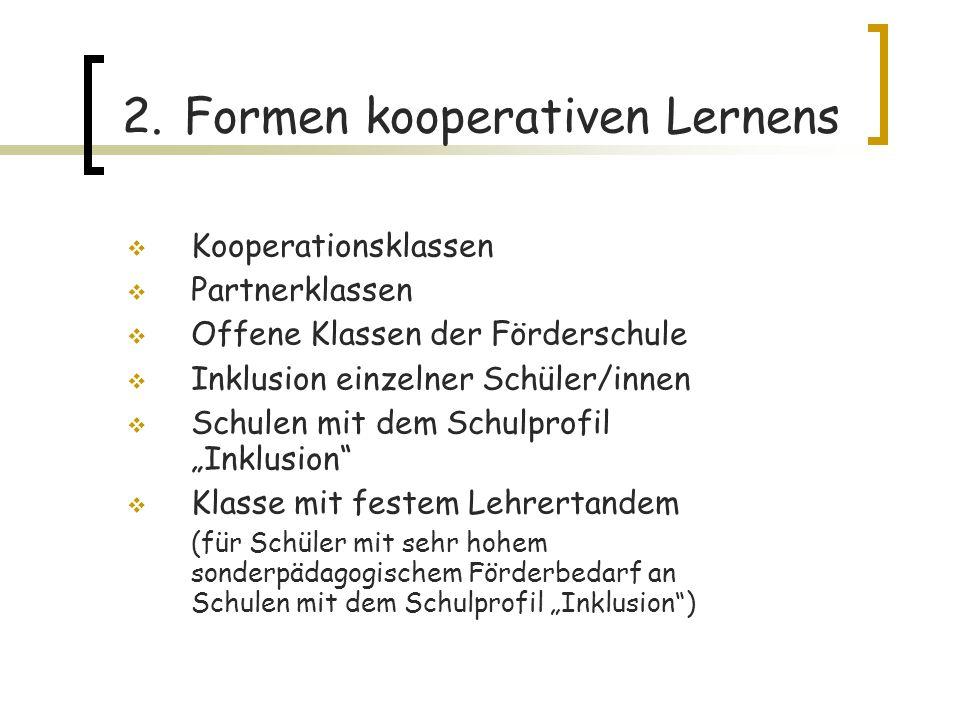 2. Formen kooperativen Lernens