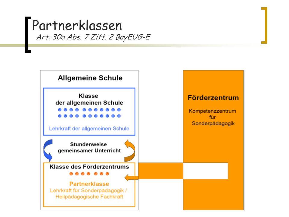 Partnerklassen Art. 30a Abs. 7 Ziff. 2 BayEUG-E 6