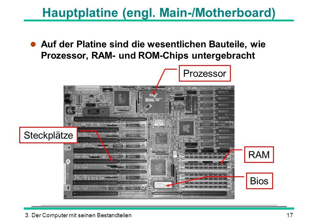 Hauptplatine (engl. Main-/Motherboard)