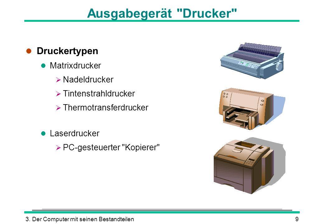 Ausgabegerät Drucker Druckertypen Matrixdrucker Nadeldrucker