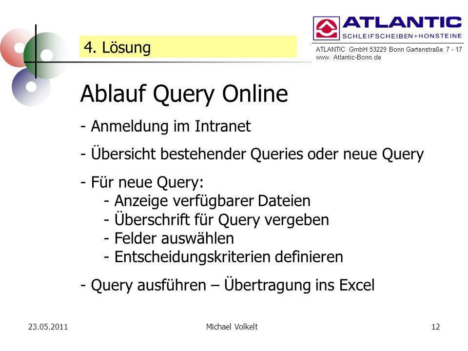 Ablauf Query Online 4. Lösung Anmeldung im Intranet