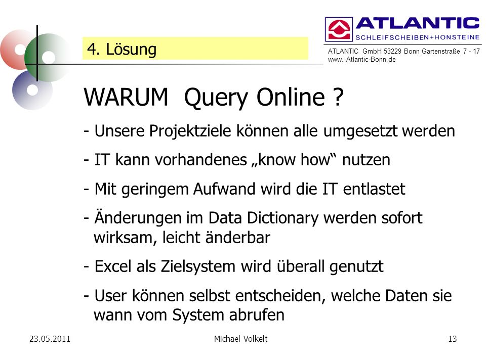 WARUM Query Online 4. Lösung