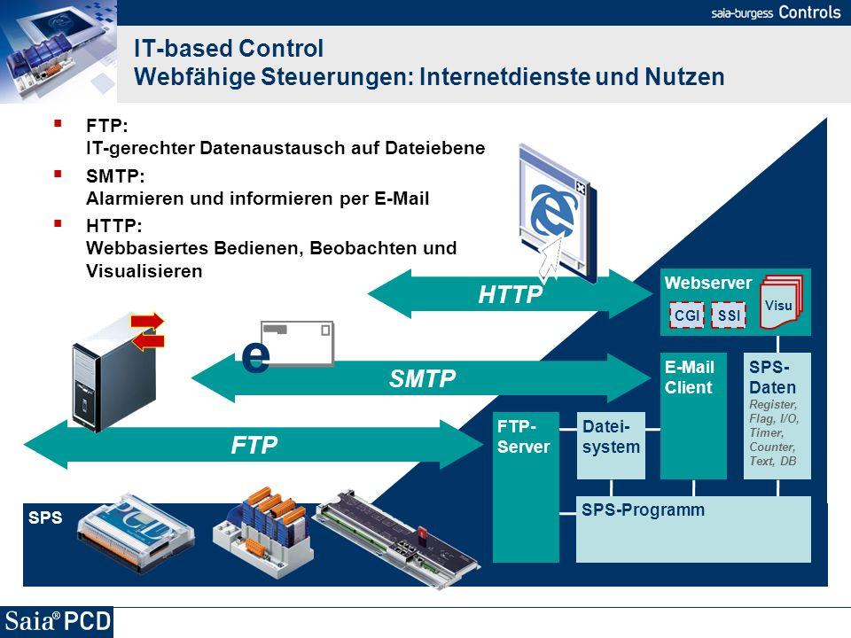 IT-based Control Webfähige Steuerungen: Internetdienste und Nutzen