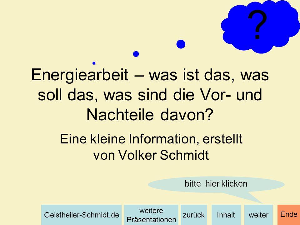 Eine kleine Information, erstellt von Volker Schmidt