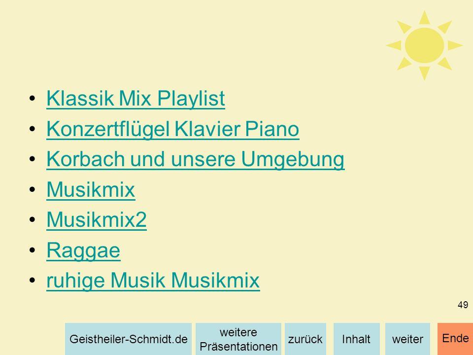 Klassik Mix Playlist Konzertflügel Klavier Piano. Korbach und unsere Umgebung. Musikmix. Musikmix2.