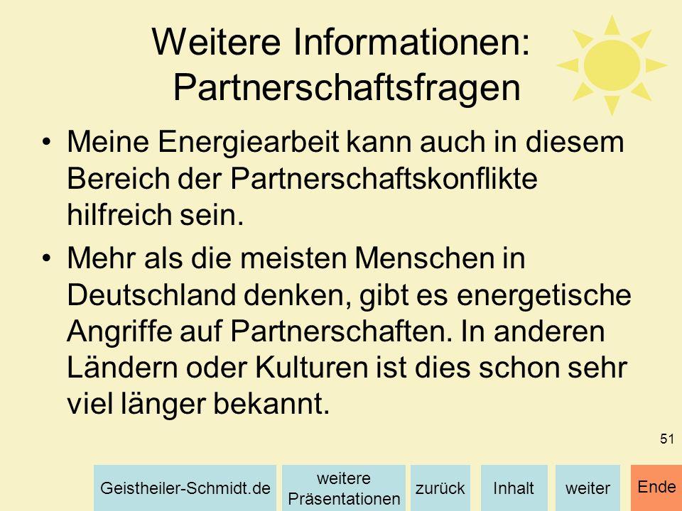 Weitere Informationen: Partnerschaftsfragen