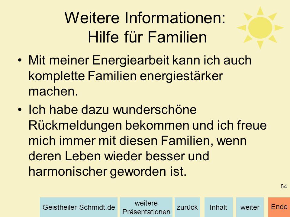 Weitere Informationen: Hilfe für Familien
