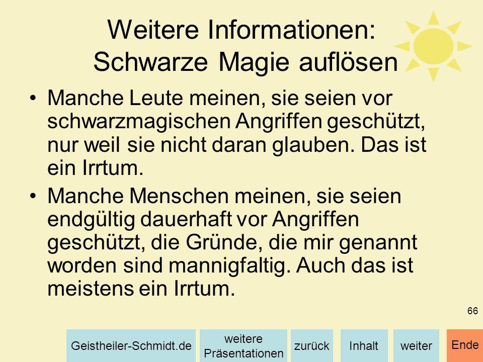 Weitere Informationen: Schwarze Magie auflösen