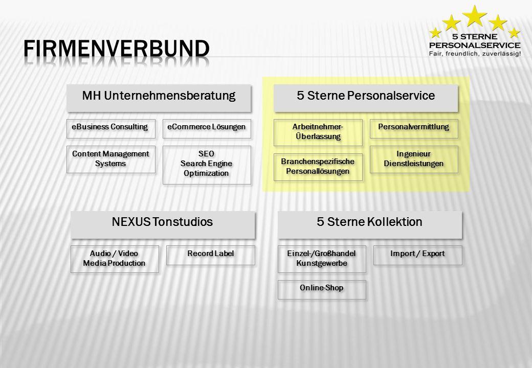 Firmenverbund MH Unternehmensberatung 5 Sterne Personalservice