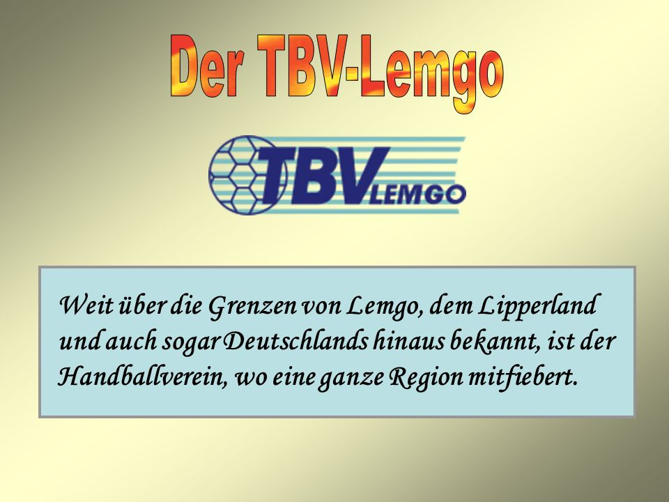Der TBV-Lemgo