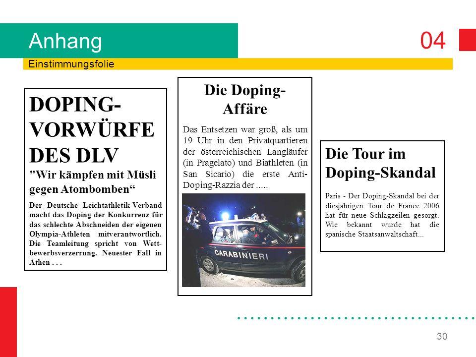DOPING-VORWÜRFE DES DLV Wir kämpfen mit Müsli gegen Atombomben