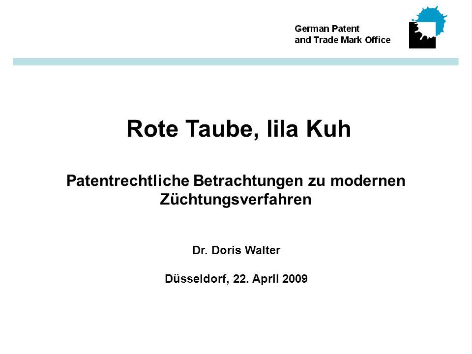Patentrechtliche Betrachtungen zu modernen Züchtungsverfahren