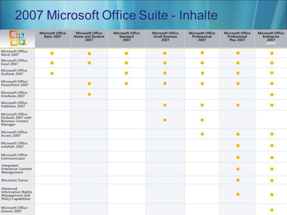 2007 Microsoft Office Suite - Inhalte