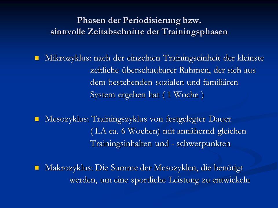 Phasen der Periodisierung bzw