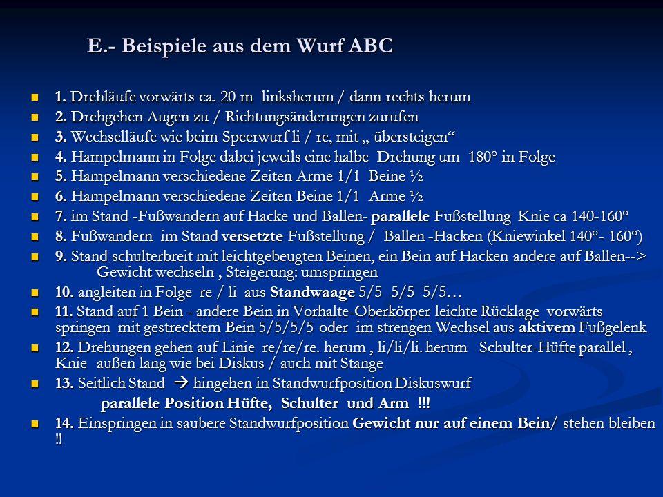 E.- Beispiele aus dem Wurf ABC