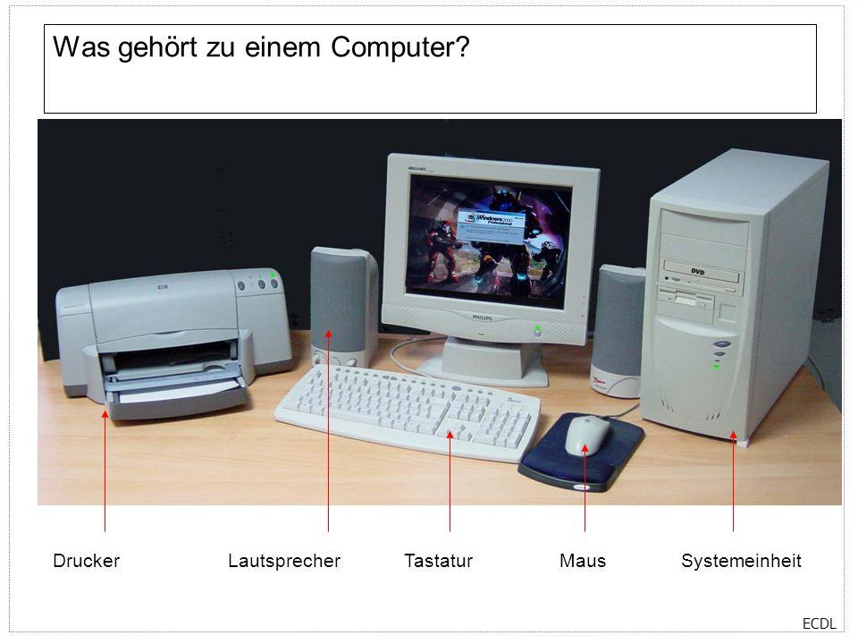 Was gehört zu einem Computer