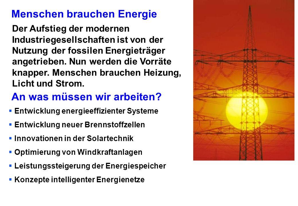 Menschen brauchen Energie