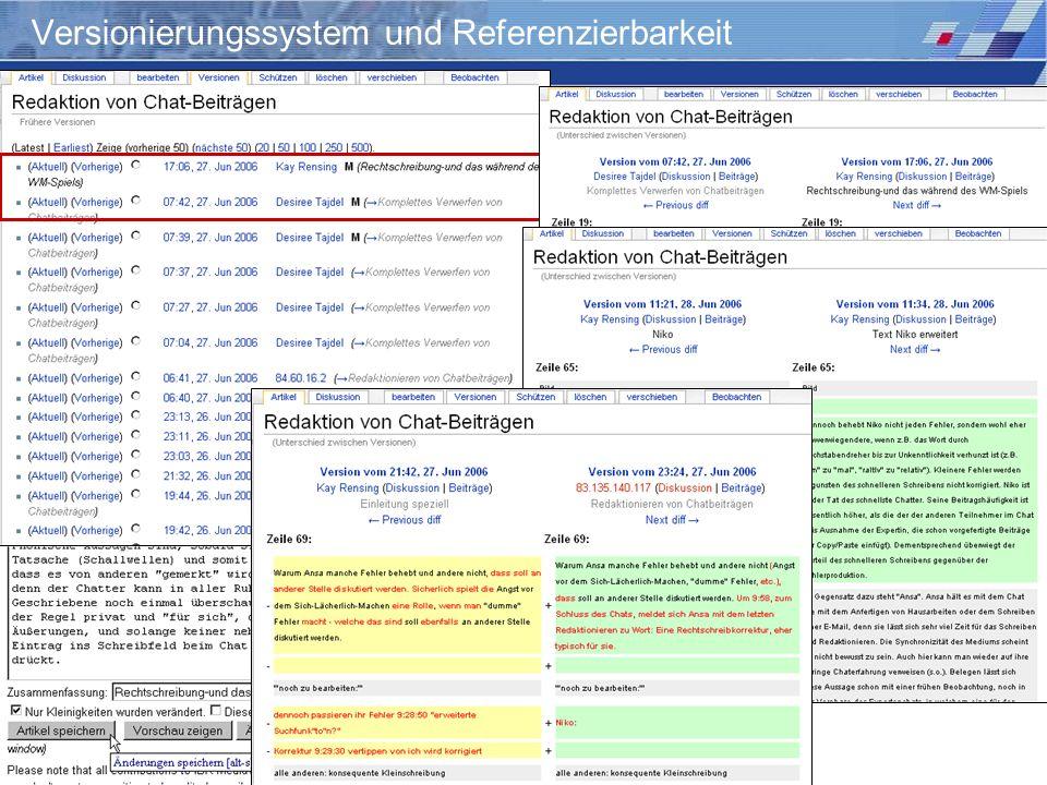 Versionierungssystem und Referenzierbarkeit