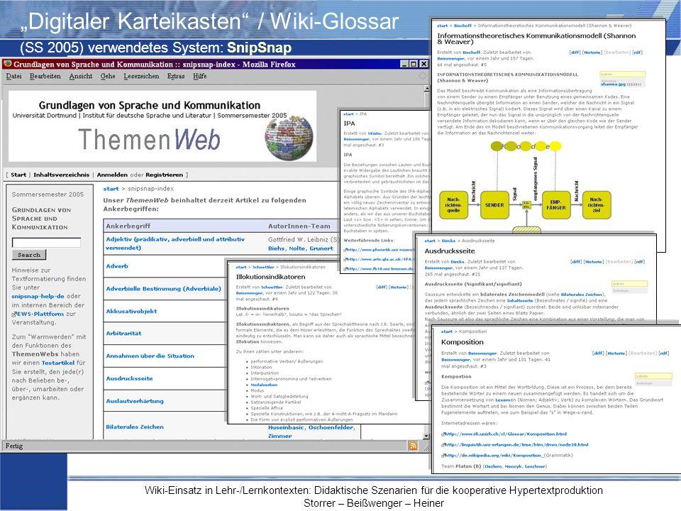 """""""Digitaler Karteikasten / Wiki-Glossar"""