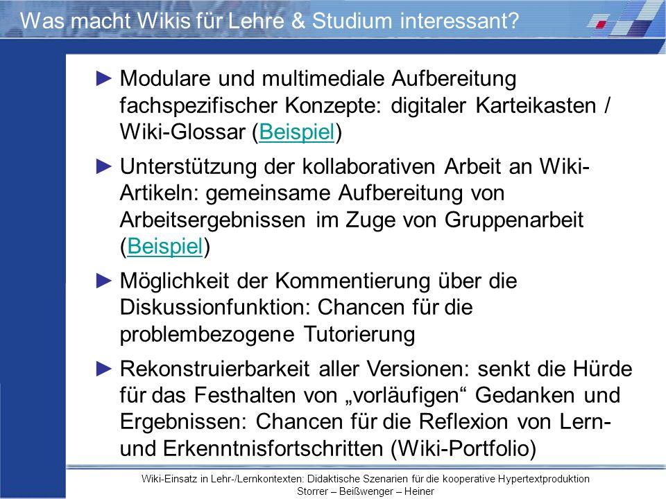 Was macht Wikis für Lehre & Studium interessant