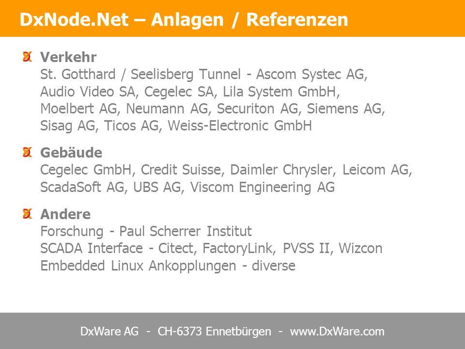 DxNode.Net – Anlagen / Referenzen