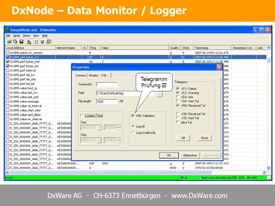 DxNode – Data Monitor / Logger