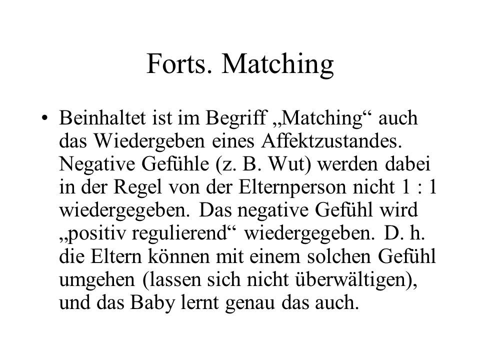 Forts. Matching