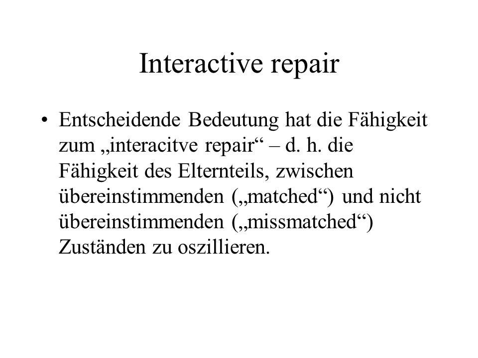 Interactive repair
