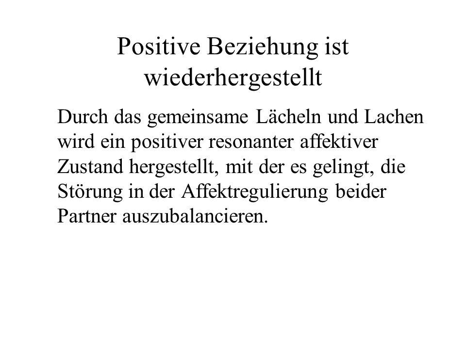 Positive Beziehung ist wiederhergestellt