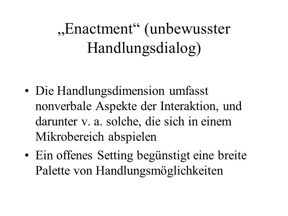 """""""Enactment (unbewusster Handlungsdialog)"""