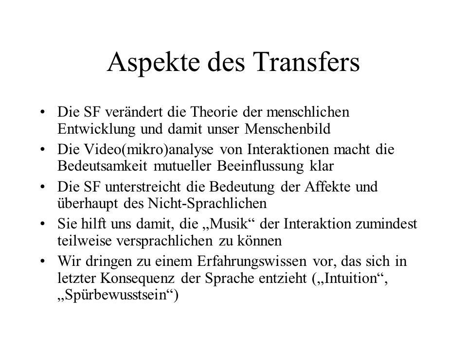 Aspekte des Transfers Die SF verändert die Theorie der menschlichen Entwicklung und damit unser Menschenbild.
