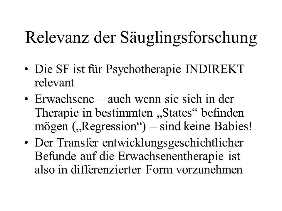 Relevanz der Säuglingsforschung