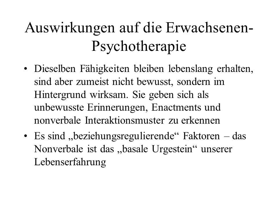 Auswirkungen auf die Erwachsenen-Psychotherapie